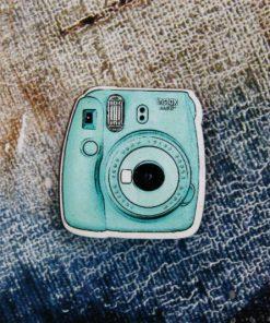 Деревянный значок Инста-камера