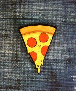 """Деревянный значок """"Пицца"""""""