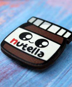 Деревянный значок Нутелла