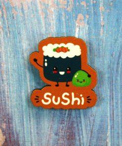 Деревянный значок Суши