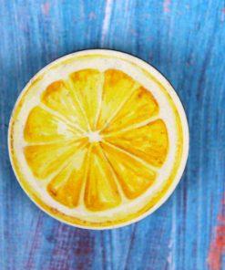 Деревянный значок Лимон