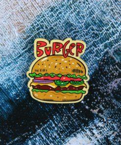 Деревянный значок Бургер