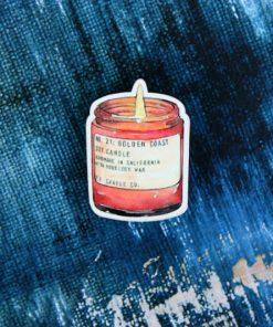 Деревянный значок Ароматическая свеча