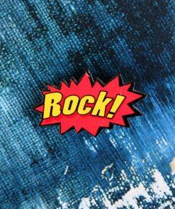 Деревянный значок Rock