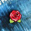 Деревянный значок Красная роза