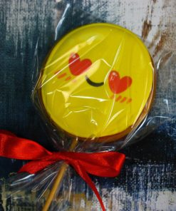 Имбирное печенье Смайлик с влюбленными глазами