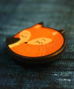 Деревянный значок Лиса