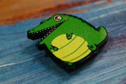 Деревянный значок Пухлый крокодил