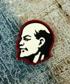 Деревянный значок Ленин профиль
