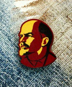 Деревянный значок Ленин
